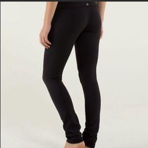 Lululemon Groove Pant Straight Black, Sz 4